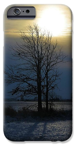 Comfortable Art iPhone Cases - Winters Sunrise iPhone Case by Dan Sproul