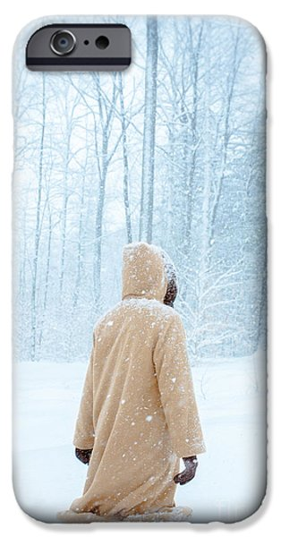 Snow iPhone Cases - Winters Tale iPhone Case by Edward Fielding