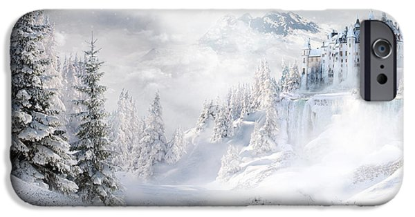 Christmas Mixed Media iPhone Cases - Winters Tale iPhone Case by Shanina Conway