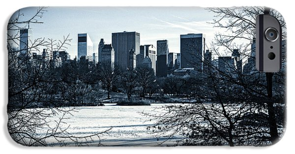 Snow Scene iPhone Cases - Winters Touch - Manhattan iPhone Case by Madeline Ellis