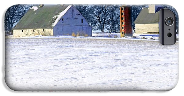 Nebraska iPhone Cases - Winterscape  #2 iPhone Case by Nikolyn McDonald
