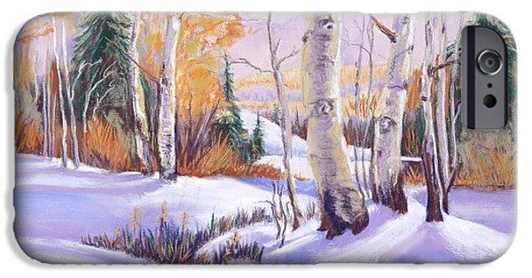 Winter Scene Pastels iPhone Cases - Winterscape iPhone Case by Dale Bernard