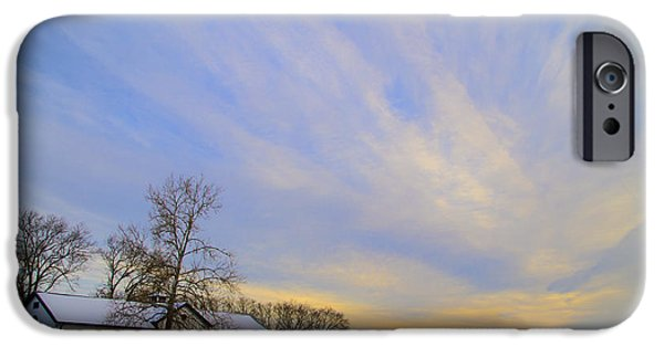 Wintertime iPhone Cases - Wintertime at Widener Farms iPhone Case by Bill Cannon