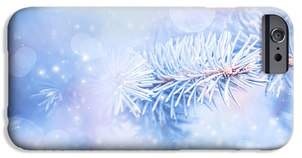 Wintertime iPhone Cases - Wintertime background iPhone Case by Anna Omelchenko