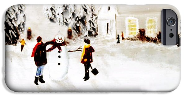 Pines iPhone Cases - Wintertime In Pine Village iPhone Case by Chastity Hoff