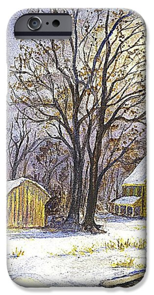 Wintertime in The Country iPhone Case by Carol Wisniewski