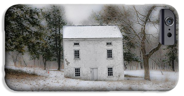 Wintertime iPhone Cases - Wintertime in Valley Forge iPhone Case by Bill Cannon