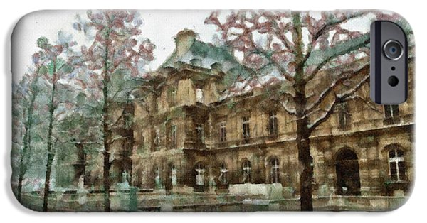 Mansion iPhone Cases - Wintertime Sadness iPhone Case by Ayse Deniz
