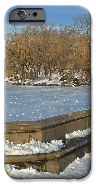 Wintery Afternoon at Bathsheba Terrace iPhone Case by Muriel Levison Goodwin