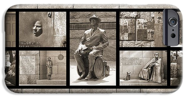 Memorial Digital iPhone Cases - WIP - FDR Memorial - Washington DC iPhone Case by Mike McGlothlen