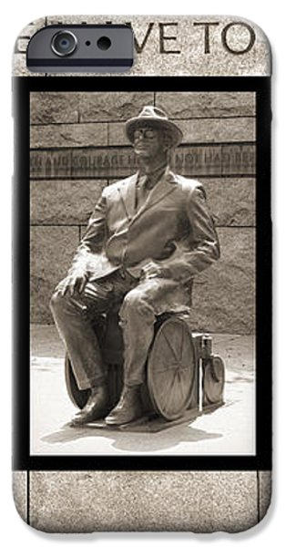 WIP - FDR Memorial - Washington DC iPhone Case by Mike McGlothlen