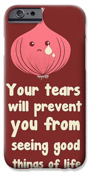 Torn Digital Art iPhone Cases - Wipe off your tears iPhone Case by Neelanjana  Bandyopadhyay