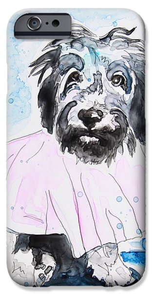 Mixed Labrador Retriever iPhone Cases - Wipe Your Paws iPhone Case by Shaina Stinard