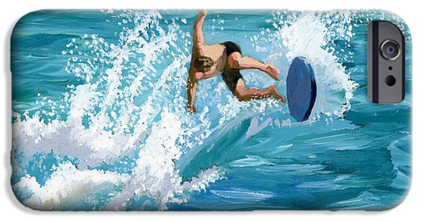 Spray Paintings iPhone Cases - Wipeout iPhone Case by Alice Leggett