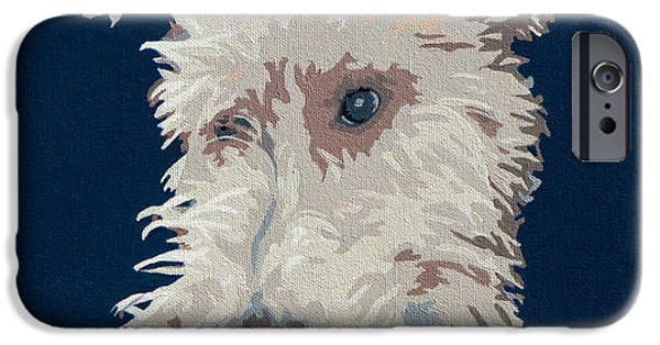 Fox Terrier iPhone Cases - Wire Fox Terrier iPhone Case by Slade Roberts