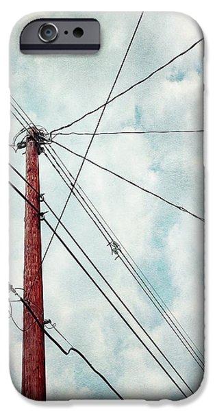 wired iPhone Case by Priska Wettstein