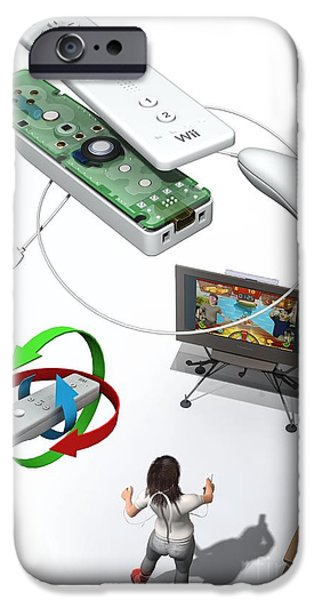 Component iPhone Cases - Wireless Home Video Game System iPhone Case by José Antonio Peñas