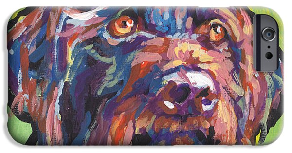 Fun Dog Art iPhone Cases - Wirey and Wild iPhone Case by Lea