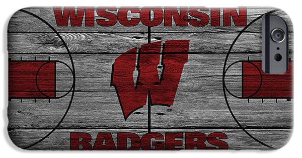 Division iPhone Cases - Wisconsin Badger iPhone Case by Joe Hamilton