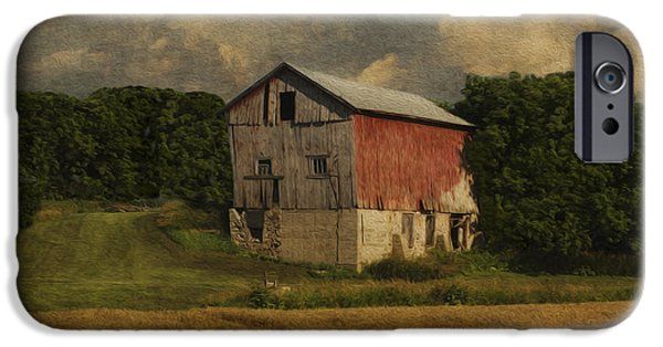 Shed Digital Art iPhone Cases - Wisconsin Barn iPhone Case by Jack Zulli