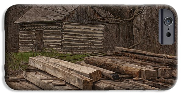 Cabin Window iPhone Cases - Wisconsin Rustic iPhone Case by Jack Zulli