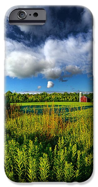 Field. Cloud iPhone Cases - Wisconsinland iPhone Case by Phil Koch
