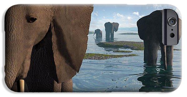 Elephant iPhone Cases - Wisdom iPhone Case by Cynthia Decker