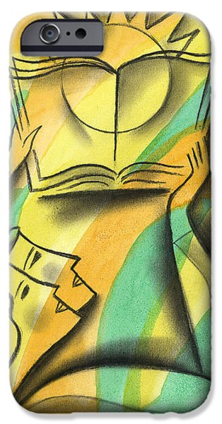 Education Paintings iPhone Cases - Wisdom iPhone Case by Leon Zernitsky