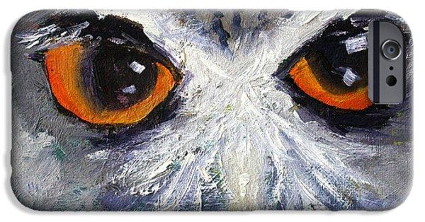 Business Paintings iPhone Cases - Wisdom iPhone Case by Nancy Merkle