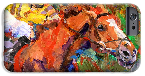 Racing Paintings iPhone Cases - Wise Dan iPhone Case by Ron and Metro