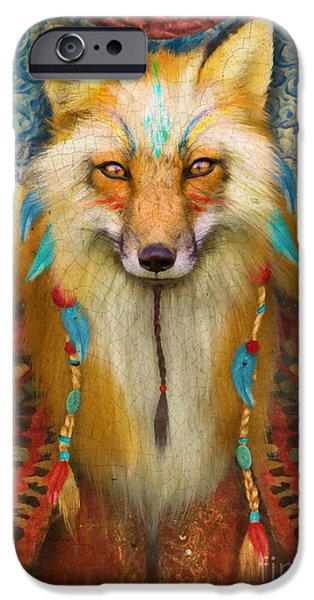 Braids iPhone Cases - Wise Fox iPhone Case by Aimee Stewart