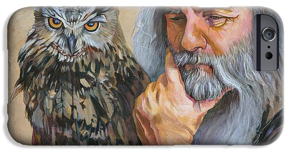 Animal Wisdom iPhone Cases - Wise Guys iPhone Case by J W Baker