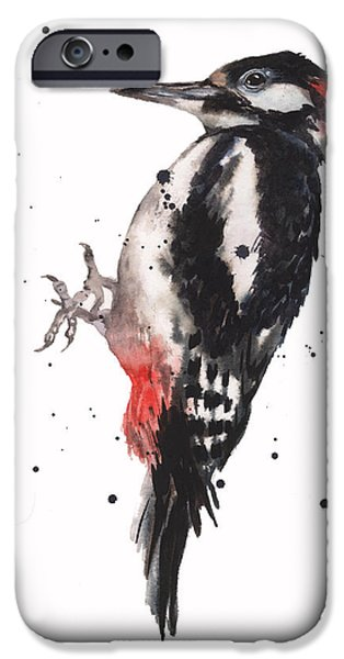 Red And Black iPhone Cases - Wise Woody iPhone Case by Alison Fennell