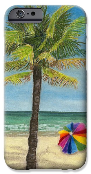 Umbrella Pastels iPhone Cases - Wish I Was There iPhone Case by Arlene Crafton