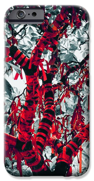 Bless iPhone Cases - Wishing Tree iPhone Case by Wim Lanclus