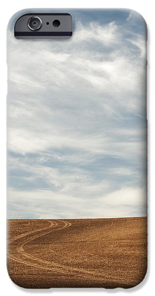 Contour Plowing iPhone Cases - Wispy Clouds iPhone Case by Latah Trail Foundation