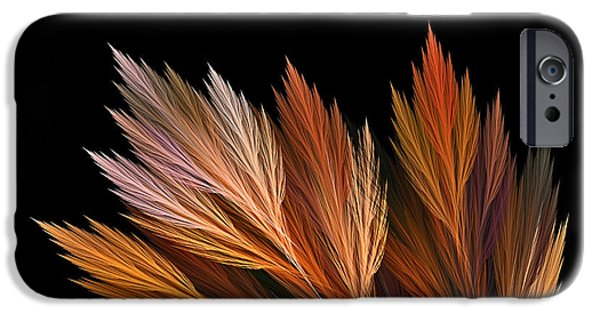 Colors Of Autumn iPhone Cases - Wispy Tones of Autumn iPhone Case by Kaye Menner