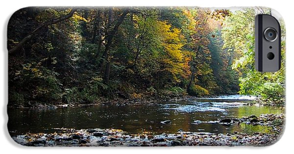 Creek iPhone Cases - Wissahickon Creek iPhone Case by Ellen Di Piazza