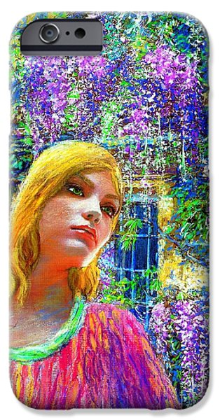 Dream Paintings iPhone Cases - Wisteria iPhone Case by Jane Small