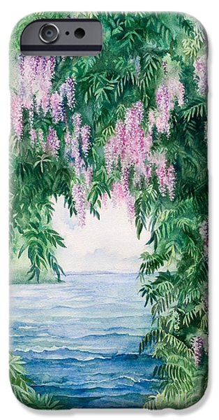Michelle iPhone Cases - Wisteria iPhone Case by Michelle Wiarda