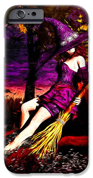 Witch in the Punkin Patch iPhone Case by Bob Orsillo