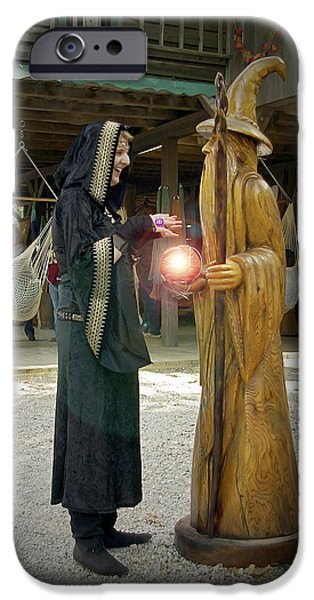 Cast A Spell iPhone Cases - Witch Vs Wizard iPhone Case by Brian Wallace