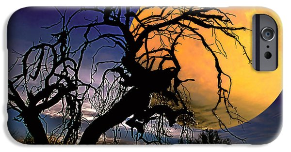 Creepy iPhone Cases - Witching Hour iPhone Case by Barbara D Richards