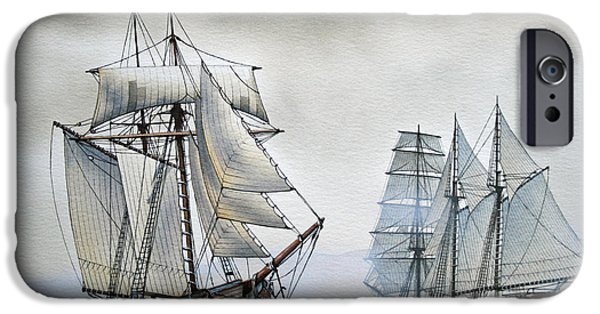 Tall Ship iPhone Cases - With a Fair Wind iPhone Case by James Williamson