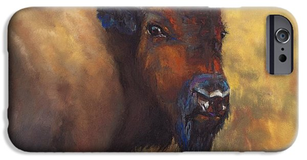 Bulls Pastels iPhone Cases - With Age Comes Beauty iPhone Case by Frances Marino