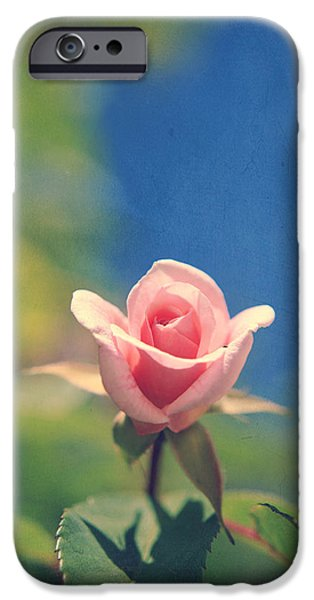 Texture Flower iPhone Cases - With Love Always iPhone Case by Laurie Search