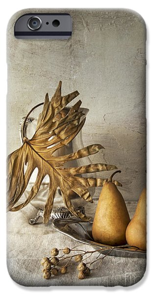Still Life With Pitcher iPhone Cases - With pears iPhone Case by Elena Nosyreva