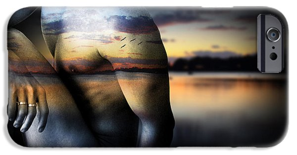 Figure iPhone Cases - With The Sea  iPhone Case by Mark Ashkenazi