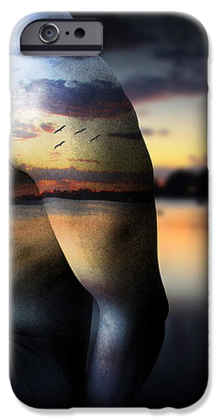 with the sea  iPhone Case by Mark Ashkenazi
