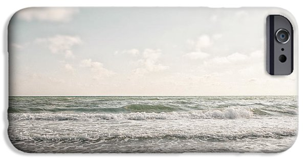 Beach Landscape iPhone Cases - With the Tide iPhone Case by Lisa Russo